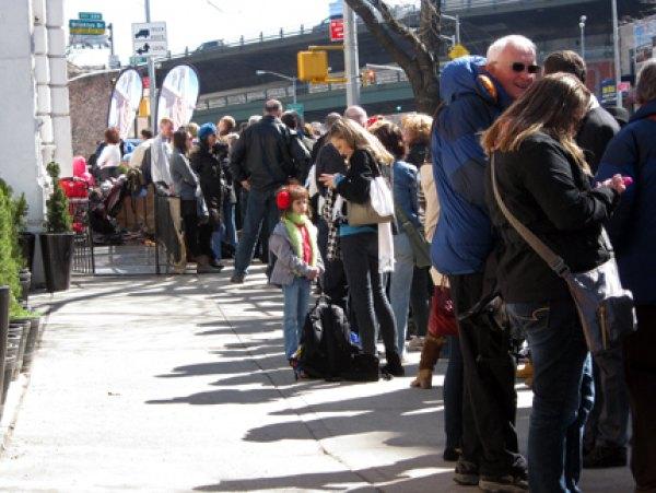 The perpetual line outside Grimaldi's