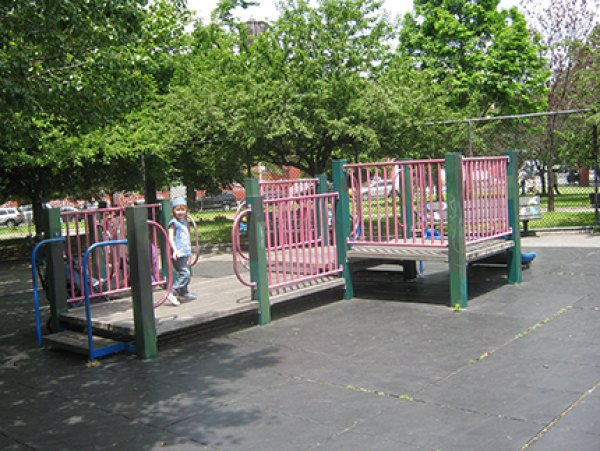 Toddler area in the Vincent V. Abate Playground