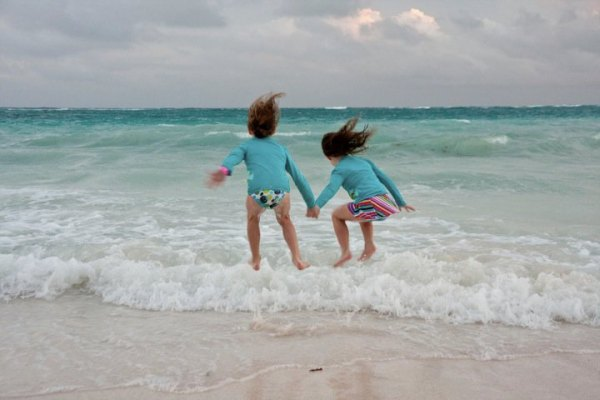 Happiness is a beach vacation.
