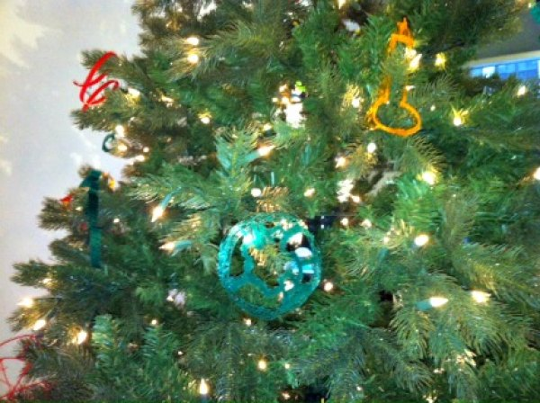 Kids can take their creations home or hang them on the tree