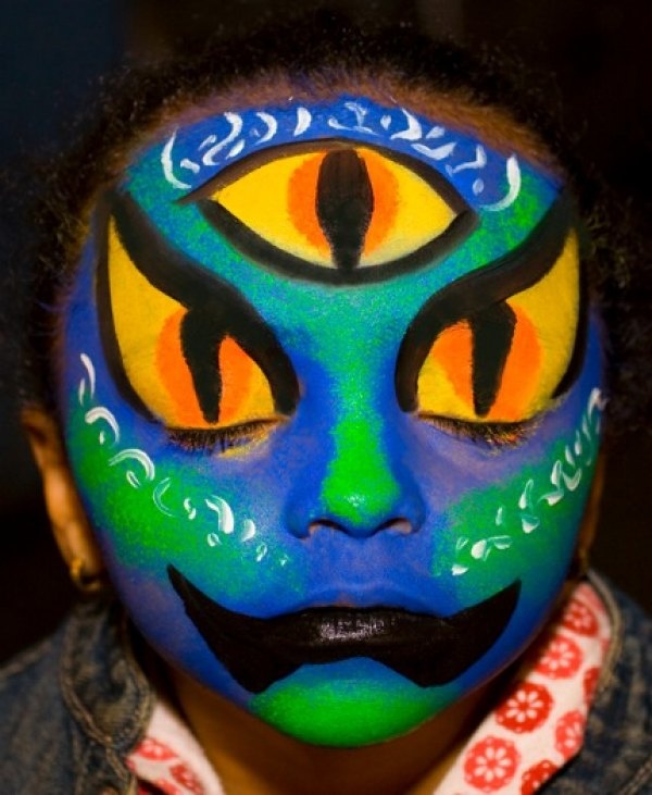 Agostino Arts face painting; photo by Christopher Agostino