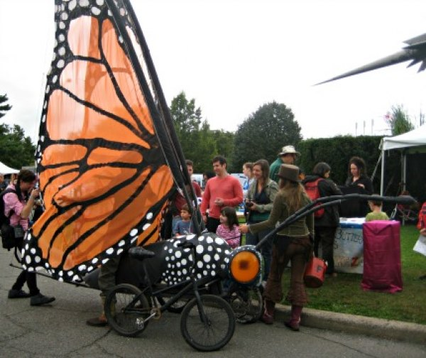 A beautiful Monarch butterfly bicycle