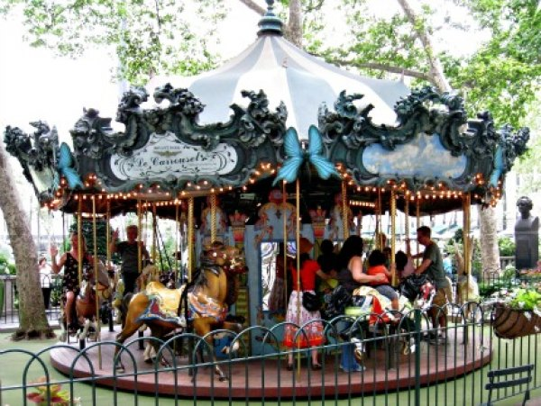 Le Carrousel in Bryant Park hosts kid-friendly events throughout the year