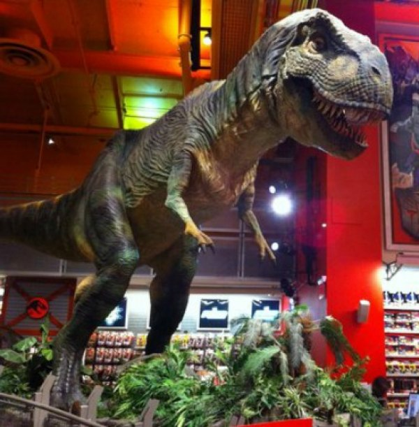 And a roaring T.rex