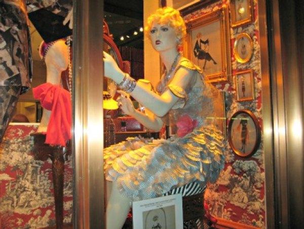Henri Bendel's cupcake wrapper-clad mannequin