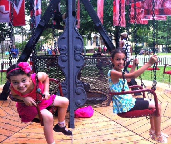 The flying swings were a favorite