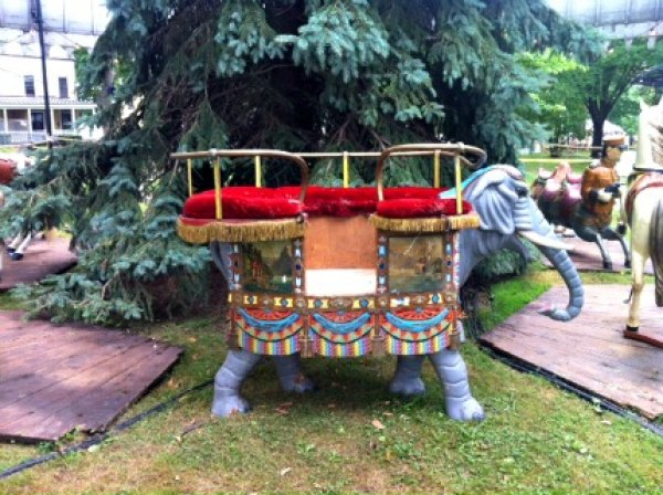 Relics of long-gone carousels