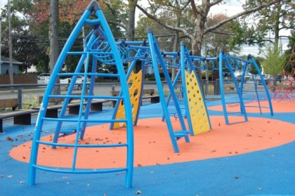 My son spent most of his time in the playground climbing