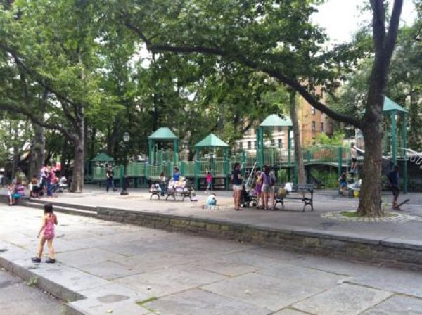 The Anne Loftus Playground has the usual swings and climbing equipment
