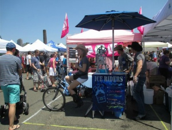 Shaved ice made by bicycle at LIC Flea & Food