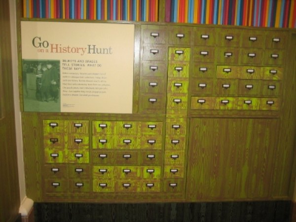 This card catalog contains artifacts from NYC's past