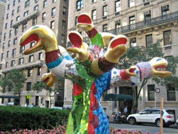 This statue on Park Avenue by Niki de Saint Phalle reminds me of Medusa