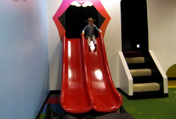 Sliding down the Rolling Stones tongue double slide