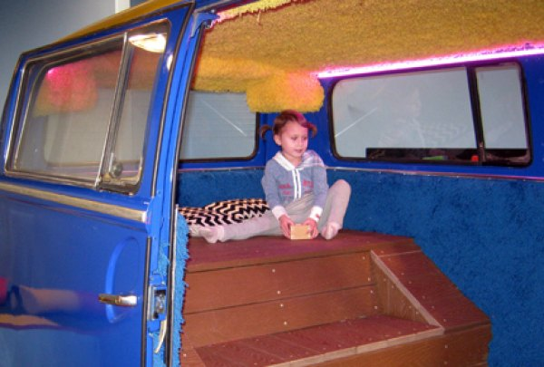 Chilling out in the back of Ziggy Starbus