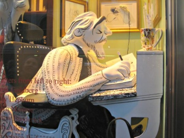Henri Bendel's windows pay homage to late caricature artist Al Hirschfeld