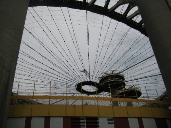 A closer look at the decrepit towers of the New York State pavilion