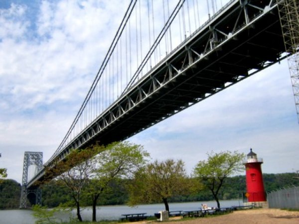 Visit iconic kid-lit locales the Little Red Lighthouse and the Great Gray Bridge in Fort Washington Park
