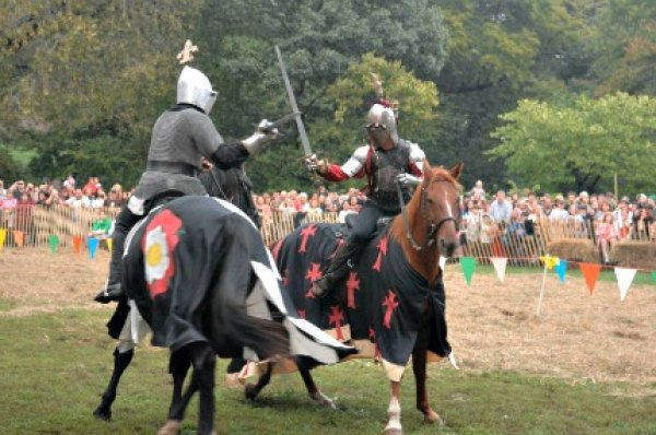 Cheer on jousting knights at the annual Medieval Festival in Fort Tryon Park; photo by Daniel Avila