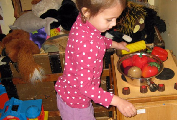 """Playing in the """"kitchen"""" at The Moxie Spot"""