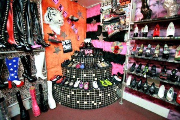 The insane shoe section alone is worth a stop at Trash and Vaudeville. And yes, you'll find funky footwear for toddlers, too.