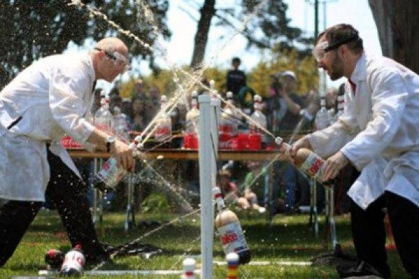 The fantastic Coke Zero & Mentos Fountains