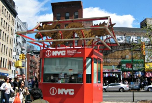 The NYC info booth in Chinatown was our starting place